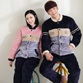 Casual Winter Pyjamas Women Pajamas Sets Lover's Sleepwear Suits Flannel Cotton Padding Warm Thick Men Home Sleep Wear Clothes