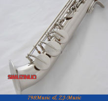 Silver Plated Curved bell Soprano saxophone Bb key to High F key and G Key