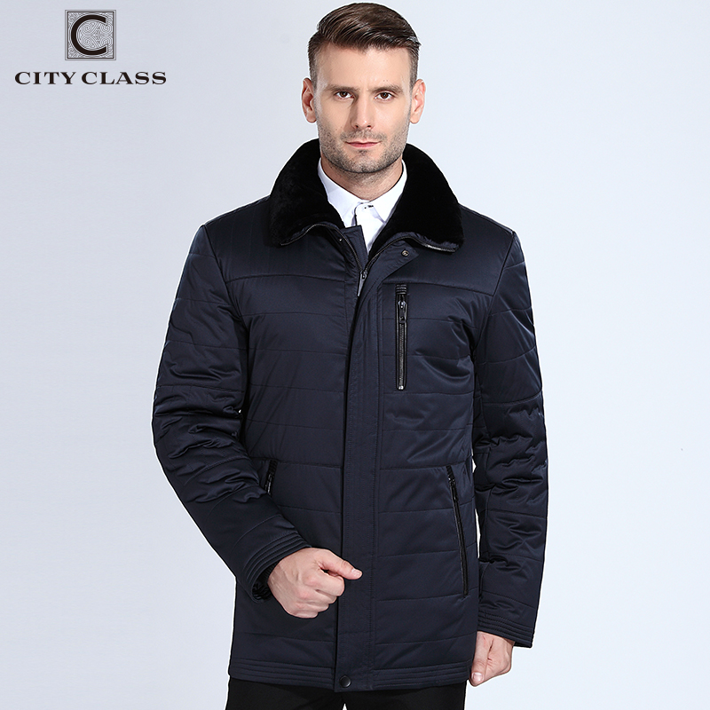 City Class 2018 New Fashion Winter Coats Lamb Fur Collar Camel Wool Filler Warm Parkas Business