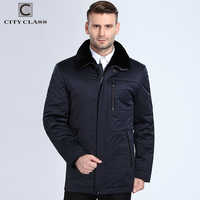 City Class 2018 New Fashion Winter Coats Lamb Fur Collar Camel Wool Filler Warm Parkas Business Casual Jackets Top Casacos 16805
