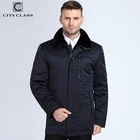 City Class 2018 New Fashion Winter Coats Lamb Fur Collar Camel Wool Filler Warm Parkas Business Casual Jackets Top Casacos 16805