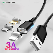 3A Fast Magnetic Charging Cable Micro USB Type C Charger Wire For iPhone X cable Samsung Xiaomi Magnet Charge Android Phone Cord magnetic adsorption usb charging cable micro type c lighting for iphone x fast charge charger cord for xiaomi mobile phone cable