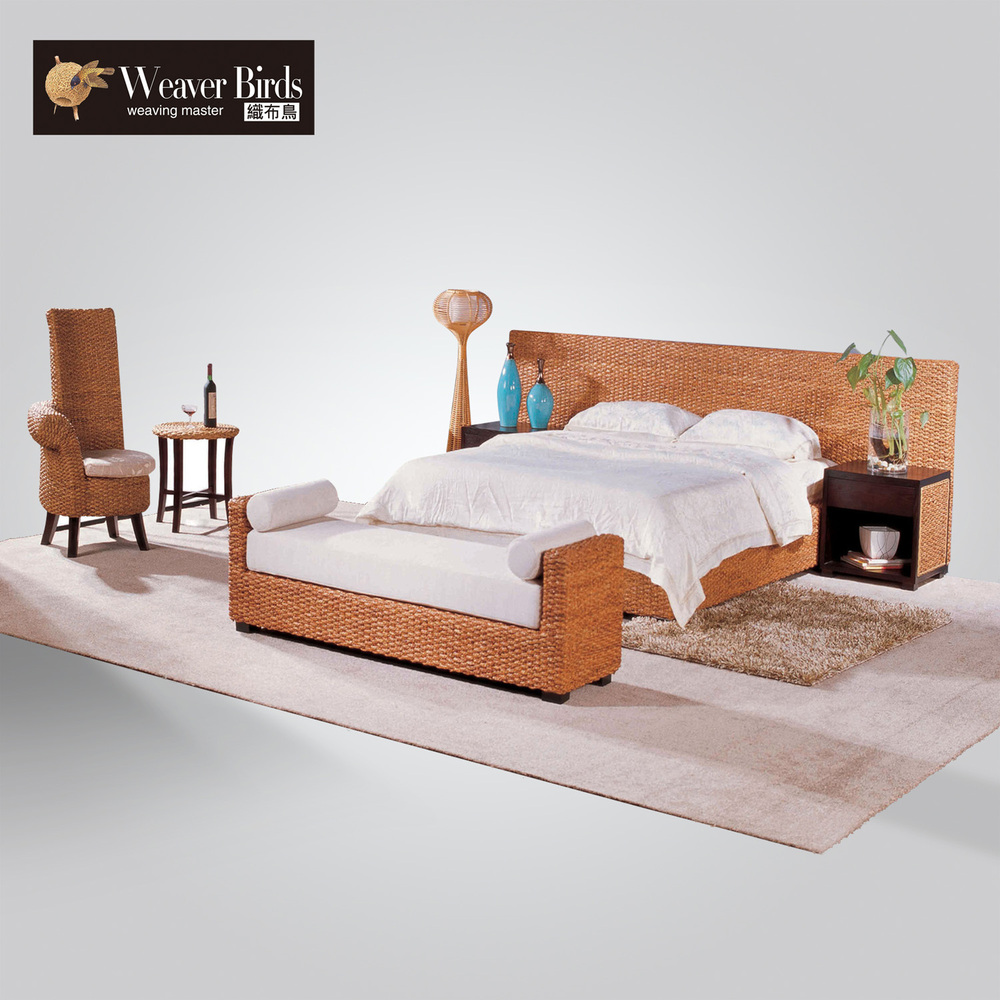 Weaver muebles de ratán, muebles de rattan mimbre cama 150 180 m ...