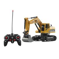 1:24 Four wheel Drive Crawler Excavator Remote Control 7 14 years old Educational 0.527kg Toy with Light