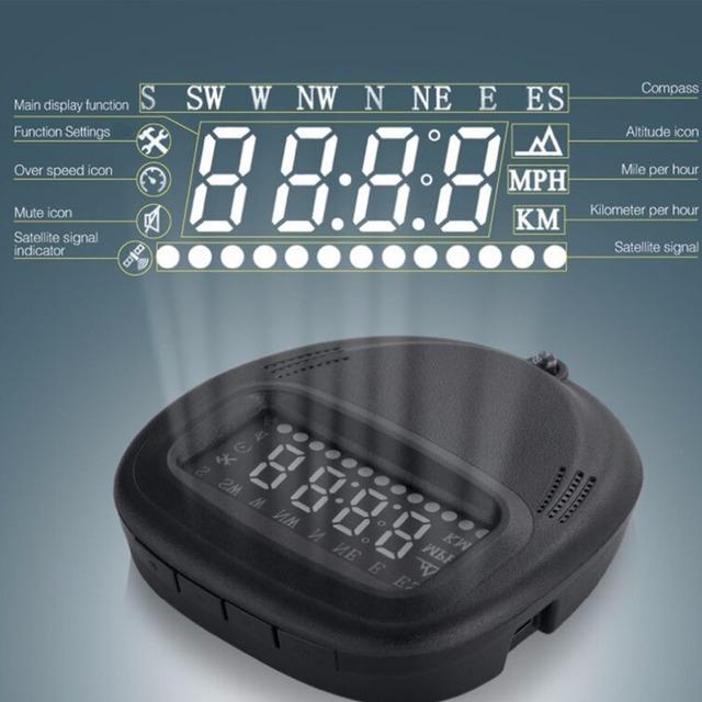 Heads-up display HUD GPS tracker 5.8-inch universal instrumento de visualización digital display exceso de velocidad de velocidad temperatura del medidor de aceite un