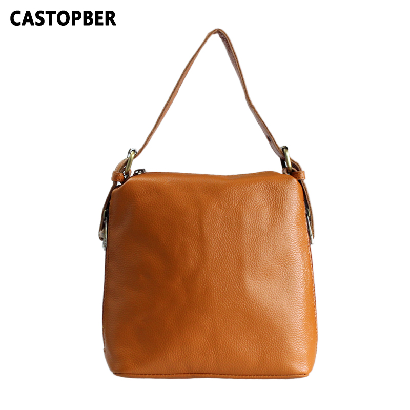 Fashion Women Bags 100% First Layer Of Cowhide Genuine Leather Women Bag Messenger Crossbody Shoulder Handbags Tote High Quality fashion leather handbags luxury head layer cowhide leather handbags women shoulder messenger bags bucket bag lady new style