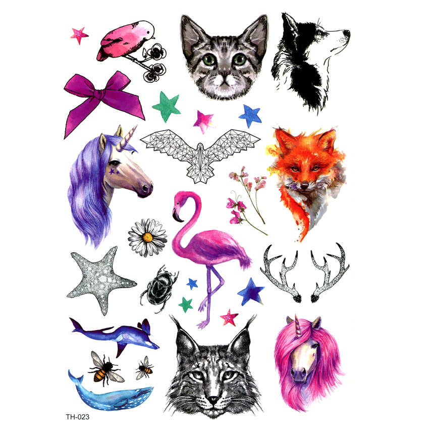 Flowers And Animals Waterproof Temporary Tattoo Sticker Harrry Styles The Flash Tatoo Tatuajes Henna Tattoos  Hello Kitty