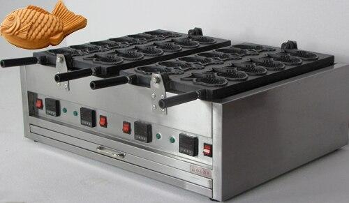 12 pieces electric taiyaki waffle machine_ Elecric taiyaki fish shape waffle maker
