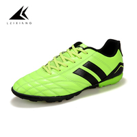 New Arrival Plus Size Unisex Soccer Training Footwear Shoes Firm Ground Leather Vamp Flat Rubber Sport