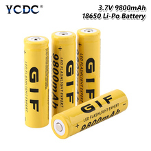 1/2/4/6/8 Pieces GTF 18650 Battery Rechargeable Battery 3.7 V 18650 9800mAh Li-ion Lithium-ion Batteries LED Light Torch Bateria 1 2 4 6 8 pieces gtf 18650 battery rechargeable battery 3 7 v 18650 9800mah li ion lithium ion batteries led light torch bateria
