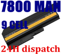 Batería del ordenador portátil para ibm thinkpad lenovo t60 r60 z60 r500 t500 sl400 sl500 92p1133 42t4619 42t4511 92p1138 42t5246 42t4572