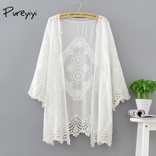 Beach Cover Up Collarless Long White Cover Ups Openwork Knitted Dress White Hollow Out Swimwear Beach for Women Summer Holiday