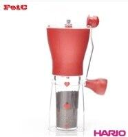 FeiC 1 adet Hario mss iki renk El değirmeni seramik çekirdek kahve değirmeni değirmen Ayarlanabilir kalınlık derecesi Yıkanabilir taşınabilir