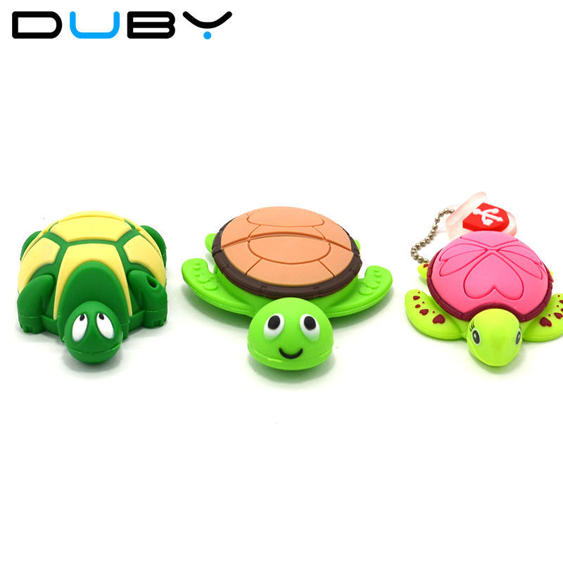 2018 Hot Tortoise cartoon USB flash drive USB 2.0 4G 8G 16G 32G USB flash drive / memory stick / disk / pen drive / gift
