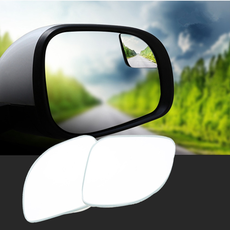 360 Degree Rotation Mirrors Wide Angle Auto Rearview Parking HD Frameless Rear View Mirror Car Blind Spot