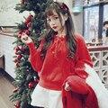 Princesa lolita doce BOBON21 camisola estudante gravata borboleta Natal Ano Novo vermelha de Todos Os Jogo camisola T1430