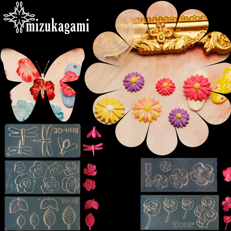 1pcs UV Resin Jewelry Liquid Silicone Mold Flowers Leaves Dragonfly 3D Resin Mold For DIY Making Jewelry Nail Art Mould