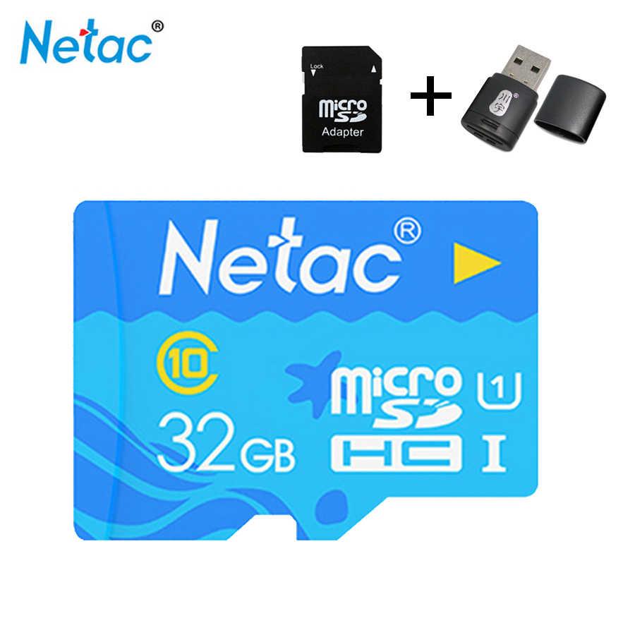 Micro Sd Karte 16gb.Netac P500 Micro Sd Card 16gb 32gb 64gb 128gb Class10 Compact Flash Monitor Sd Card Free Shipping Karte Tf Karte Tablet Suntrsi
