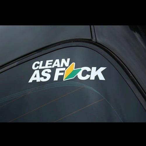 Car Window Decals Stickers Jdm Cleam As Fuk Waterproof Stickers - Decal stickers for cars windows