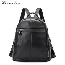 Aidoudou Рюкзаки Высокое качество кожаный рюкзак женская сумка элегантный дизайн школьный для студента колледжа или подростков Новое поступление
