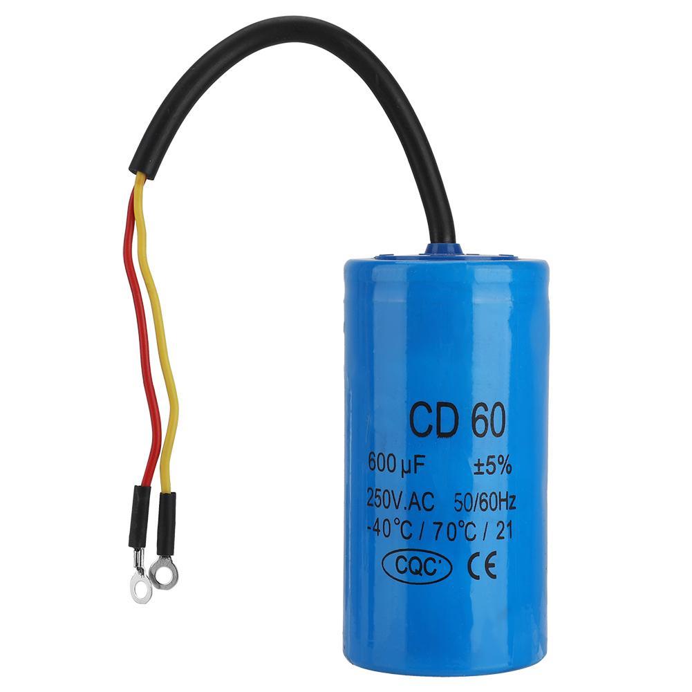 1pcs CD60 Motor Start Capacitor 300 MFD UF 250VAC HVAC Capacitor