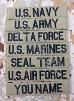 Black Letters Tan Custom Name Tapes Chest Tapes Services Tapes Morale Tactical Military Embroidery Patch Q219