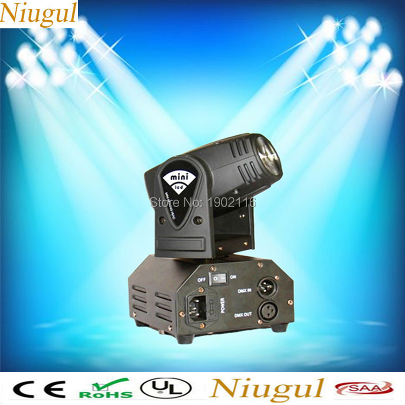High quality 10W LED Mini Moving Head Beam Light/RGBW 10w Led Lamp/Disco DJ Lighting/Bar Home Party Club Wedding lights/led beam 2pcs lot 10w spot moving head light dmx effect stage light disco dj lighting 10w led patterns light for ktv bar club design lamp