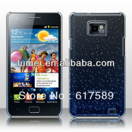 3D Rain Drop New Top Design Hard Cell Phone Case Cover For Samsung Galaxy S2 i9100