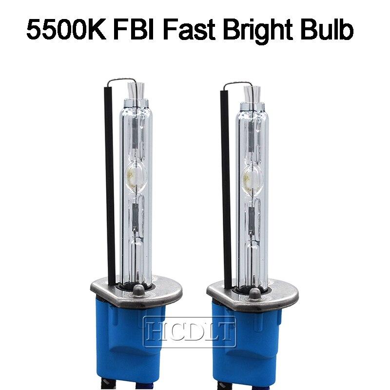 HCDLT 55W Xenon HID Conversion Kit Xenon H7 55W 5500K HID H1 H11 HB3 HB4 9012 D2H Car Light Headlamp Bulb AC Fast Start Ballast (3)