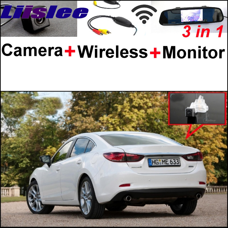For <font><b>Mazda</b></font> 6 Mazda6 2013~2015 <font><b>3</b></font> in1 Special <font><b>Rear</b></font> <font><b>View</b></font> Camera + Wireless Receiver + <font><b>Mirror</b></font> Monitor Easy DIY Back Parking System image