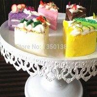 Diameter 15 High 15cm European Style Lace Wedding White Heartshaped Cake Tray Iron Tall Cupcake