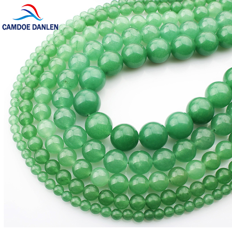 Natural Stone Green Aventurine 4/6/8/10/12mm Round Beads DIY Accessorie Handmade Bracelet Bangle Necklace For Jewelry Making