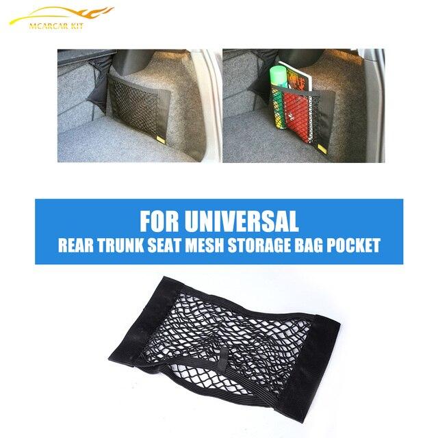 Car Rear Trunk Seat Back Elastic String Net Mesh Storage Bag Pocket Cage For BMW 3 Series F30 316i 318i 320i 328i 40X25cm