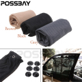 POSSBAY Black/Grey/Brown Car Sun Shade Side Window Curtain Auto Interior UV Protection Mesh Fabric Car Window Sunshad Styling