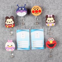 Badge Scroll Nurse Reel Cute Vertical PVC Character Scalable Colors Little Cat Exhibition ID Plastic Student Card Holder