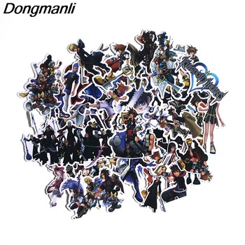 P3165 50 Pcs Kingdom Hearts DIY Skateboard Graffiti Laptop badge Motorcycle Luggage Bags Accessories