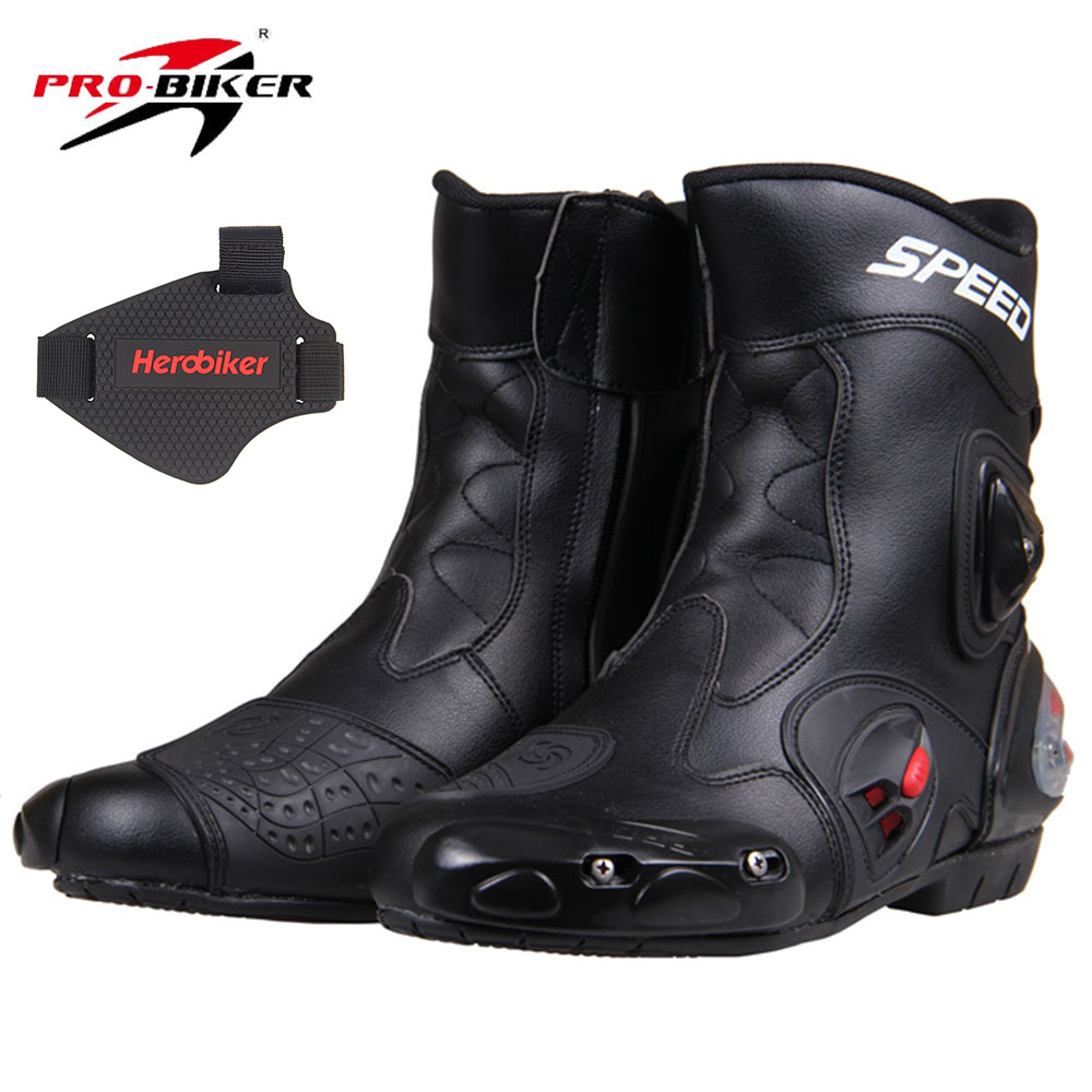 PRO-BIKER SPEED BIKERS Motorcycle Boots Racing Touring Motocross Off-Road Riding Boots Motorbike Racing Boots Mid-Calf Shoes