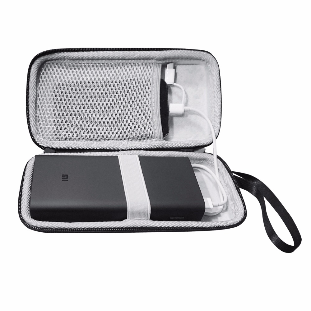 New EVA Hard Pouch Case for Xiaomi Power Bank 3 Pro 20000mAh Cover Charger Bag fitted Case Mi Battery PowerBank 3 20000 mAh Bags in Power Bank Accessories from Cellphones Telecommunications