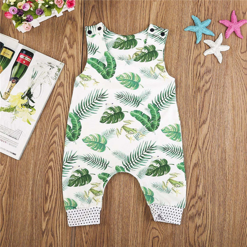 USA Kids Baby Boy Girl Cotton Frog Casual   Romper   Jumpsuit Outfits Sun suit Clothes wear