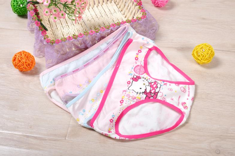 4piece/LOT Girls Underwear Panties  Briefs Child Under Wear  Children Pants Kids Wholesale Cotton Underware Cartoon 813Ax