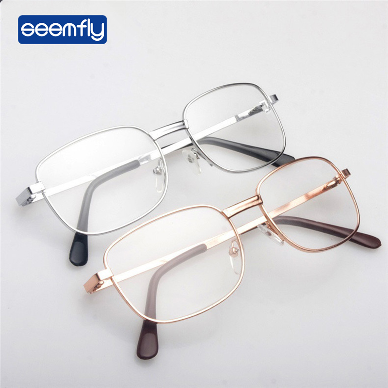 Seemfly Ultralight Clear Vision Glasses Magnifier Eyewear Reading Glasses Portable Gift For Parents Presbyopic Magnification
