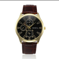 New Arrival Business Quartz Watch Fashion Men Watch Male Clock Wrist Watch PU Strap horloge mannen Montre