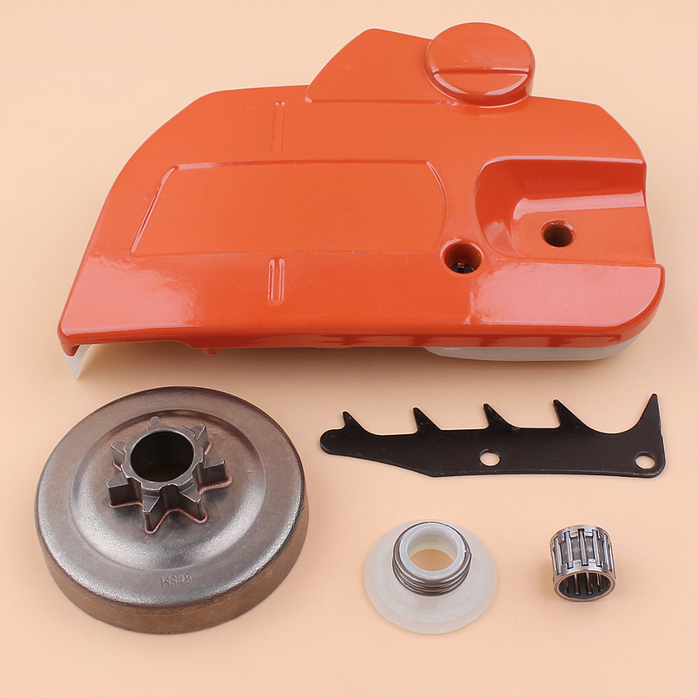 Tools : Clutch Drum Chain Brake Side Cover Felling Dog Worm Gear Kit For Husqvarna 445 450 Chainsaw Saws Replacement 544097902