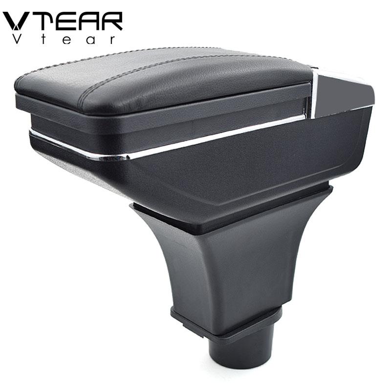Vtear for Smart fortwo forfour armrest box central Store content box products interior Armrest Storage car
