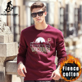Pioneer Camp 2016 new fashion printed hoodies men brand clothing casual thicken fleece male sweatshirt black red blue 622182