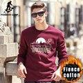Pioneer Camp 2016 nova moda impresso hoodies homens roupas de marca casual engrosse velo moletom masculino preto vermelho azul 622182