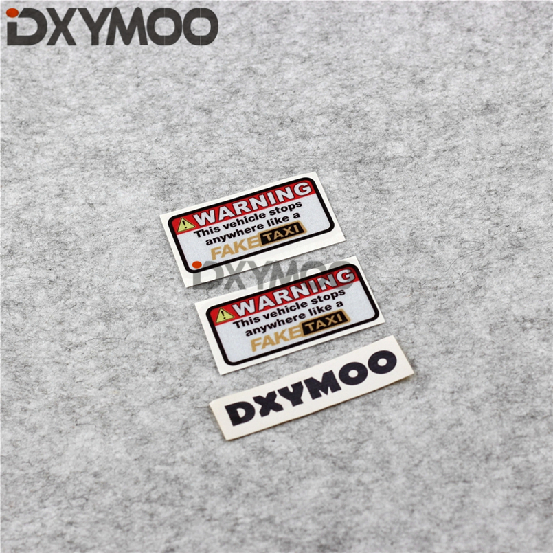 US $5 53 15% OFF|2PCS Warning FAKE TAXI Car Stickers Funny Stop Anywhere  Motorcycle Vinyl and Decals Waterproof Drop Shipping 7x3 6cm-in Car  Stickers