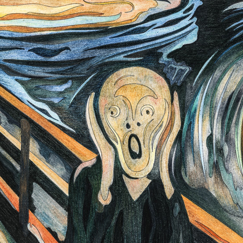 amazoncom the scream of nature edvard munch art print - 800×800