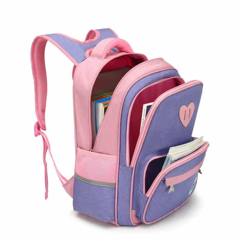 Crianças sacos de escola para meninas meninos ortopédicos mochila crianças mochilas escolares primária mochila crianças mochila
