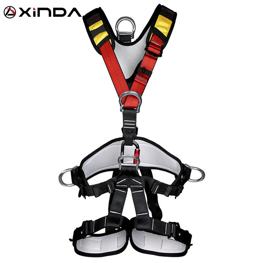 XINDA Professional Rock Climbing High Altitude Full Body Safety Belt Harnesses Anti Fall Removable Protective Gear professional rock climbing harnesses full body safety belt anti fall removable gear altitude protection equipment